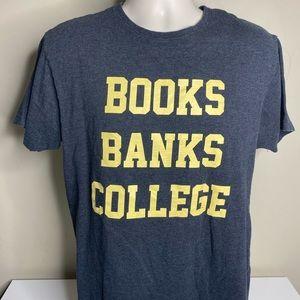 Billionaire boys club books banks college t shirt